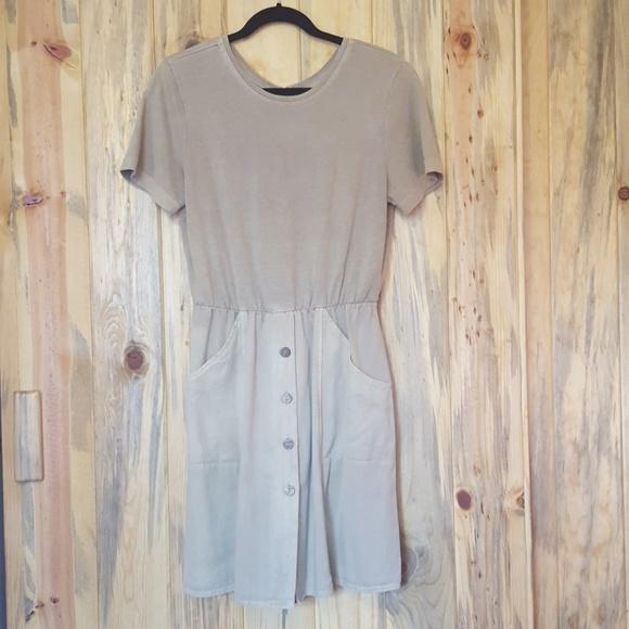 Vintage Dresses & Skirts - Vintage tan romper dress